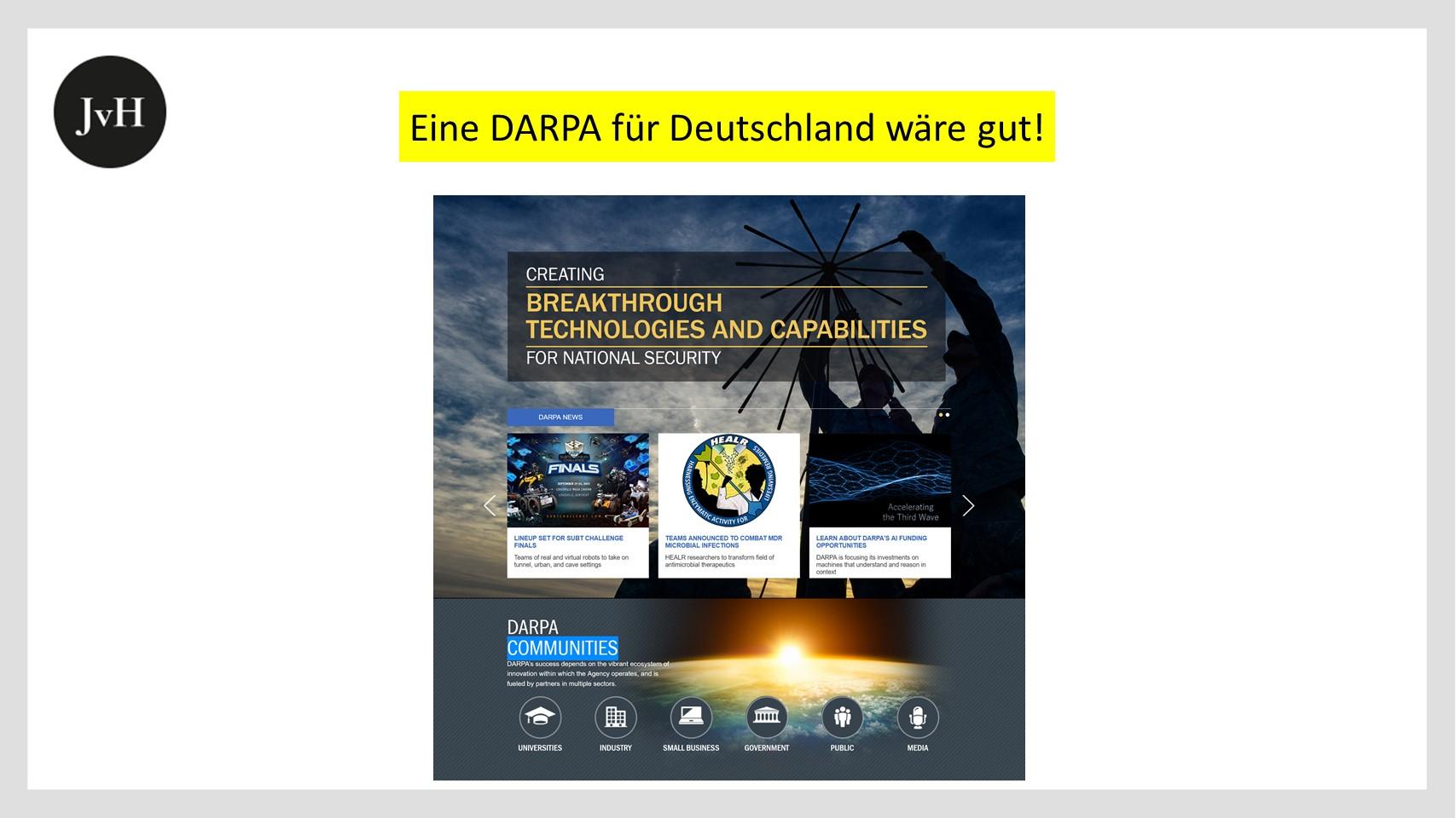 DARPA - Homepage - Screenshot